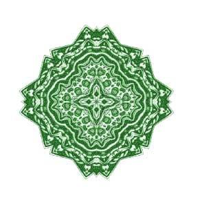 Green Reiki mandala
